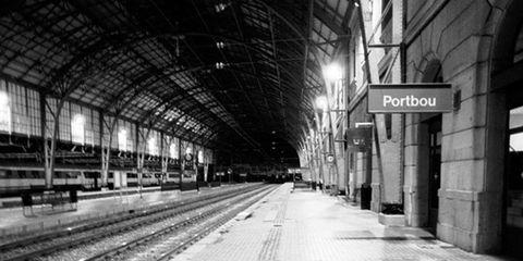 Monochrome, Architecture, Infrastructure, Monochrome photography, Train station, White, Urban area, Black-and-white, Public space, Style,