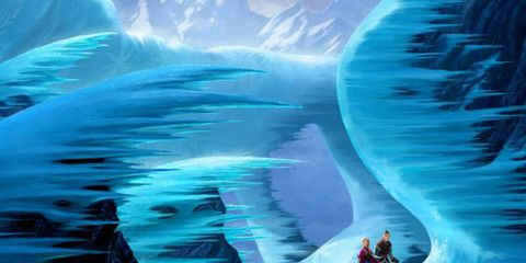 Electric blue, World, Aqua, Ice, Glacial landform, Ice cave, Cg artwork, Ice cap, Glacier cave, Graphic design,