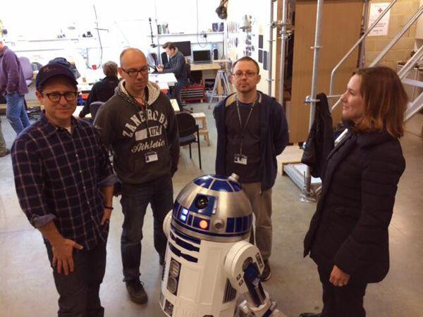 J.J. Abrams en el set de 'Star Wars VII'