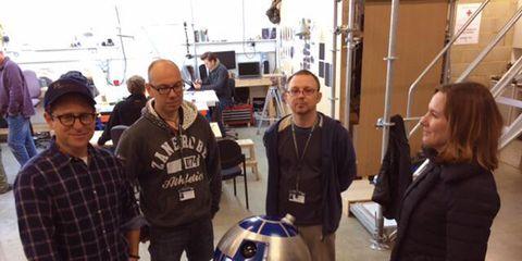 R2-d2, Machine, Fictional character, Engineering, Plaid, Robot, Baseball cap, Tartan, Naval architecture, Science,