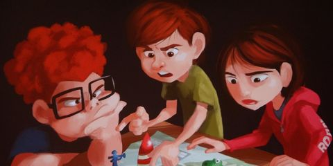 Hair, Head, Animation, Interaction, Cartoon, Sharing, Animated cartoon, Fictional character, Red hair, Bangs,