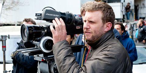 Camera, Lens, Cameras & optics, Digital camera, Photographer, Camera operator, Film camera, Camera lens, Video camera, Jacket,