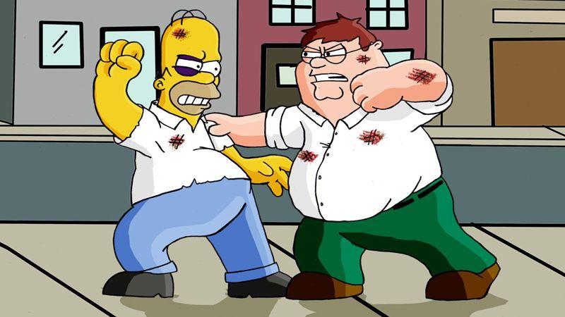 'Los Simpsons' y 'Padre de familia' se encontrarán en un episodio
