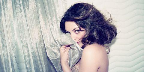 Lip, Shoulder, Eyelash, Beauty, Model, Fashion model, Long hair, Flash photography, Photo shoot, Photography,