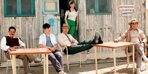 Leg, Window, Sitting, Leisure, Table, Outdoor furniture, Door, Conversation, Teal, Bench,