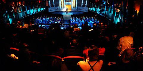 Crowd, People, Audience, Entertainment, Public event, Stage, Convention, Theatre, Auditorium, Hall,
