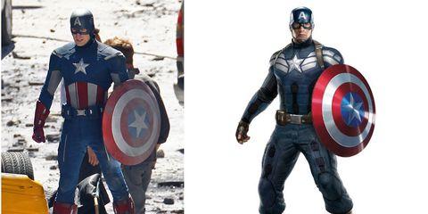 Captain america, Fictional character, Superhero, Shield, Avengers, Hero, Costume, Armour, Belt, Snow,