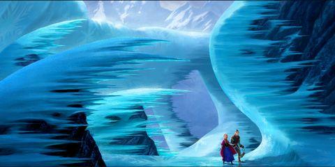 Electric blue, World, Aqua, Ice, Cg artwork, Graphics,