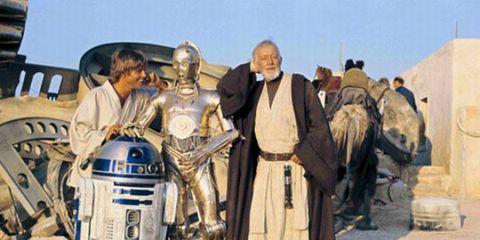 Human, R2-d2, C-3po, Fictional character, Vintage clothing, Costume, Machine, Costume design, Robot, History,