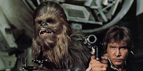 Chewbacca, Fictional character, Long hair, Costume, Fiction, Action film, Bassist, Guitarist,
