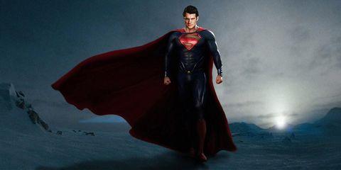 Human body, Standing, Fictional character, Superhero, Costume, Costume design, Cloak, Cape, Justice league, Superman,