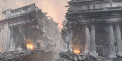 Fire, Geological phenomenon, Flame, Column, Action-adventure game, Games, Video game software, Paint, Pollution, Building material,