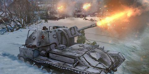 Tank, Combat vehicle, Military vehicle, Winter, Self-propelled artillery, Freezing, Snow, Gun turret, Machine, Armored car,
