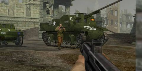 Mode of transport, Soldier, Tank, Combat vehicle, Military vehicle, Army, Shooter game, Military person, Military organization, Military,