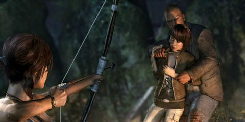 Human, Hand, Bow, Interaction, Bow and arrow, Fictional character, Action-adventure game, Arrow, Longbow, Shotgun,