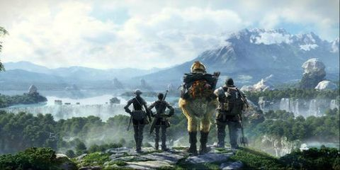Mountainous landforms, Soldier, Mountain range, Highland, Mountain, Military person, Interaction, Ridge, Wilderness, Action-adventure game,