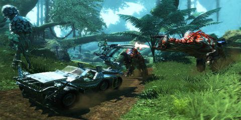 Combat vehicle, Military vehicle, Self-propelled artillery, Tank, Machine, Arecales, Palm tree, Pc game, Animation, Jungle,