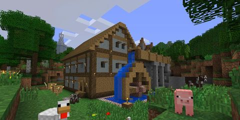 Games, Biome, Animation, Yard, Video game software, Pc game, Minecraft, Strategy video game, Screenshot,