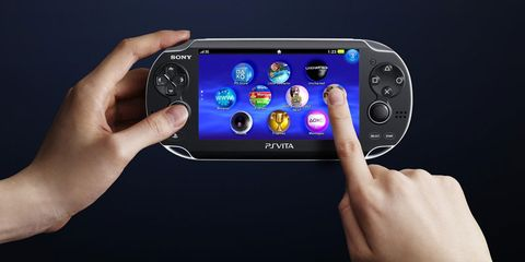 Finger, Electronic device, Gadget, Handheld game console, Technology, Video game console, Game controller, Multimedia, Electric blue, Portable electronic game,
