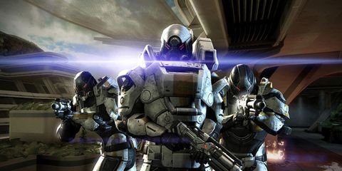 Fictional character, Armour, Cg artwork, Machine, Mecha, Animation, Games, Shooter game, Action-adventure game, Robot,