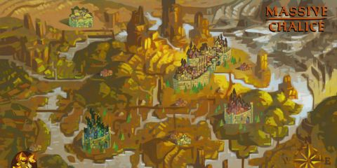 Yellow, Art paint, Illustration, Graphics, Painting, Mythology, Graphic design, Strategy video game, Modern art, Video game software,