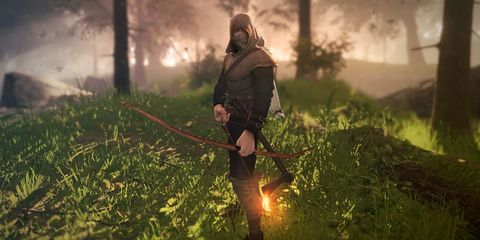 Human, Grass, People in nature, Fire, Heat, Games, Flame, Pc game, Action-adventure game, Haze,