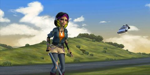 Plain, Animation, Watercraft, Animated cartoon, Grassland, Cumulus, Games, Fictional character, Cg artwork, Meteorological phenomenon,
