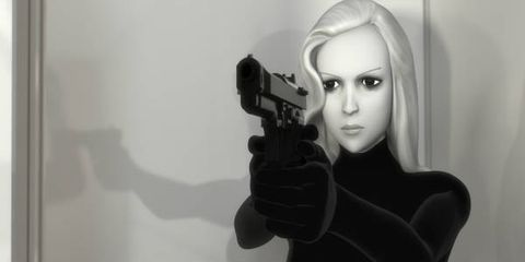 Fictional character, Air gun, Animation, Revolver, Shooting, Gunshot, Gun barrel, Cg artwork, Fiction, Digital compositing,