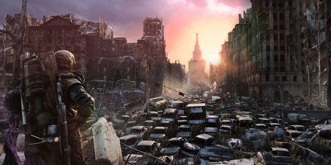 Neighbourhood, Town, City, Urban area, World, Metropolis, Human settlement, Sunset, Action-adventure game, Dusk,