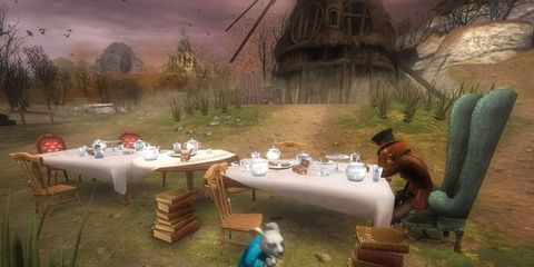 Animation, Games, Outdoor table, Outdoor furniture, Illustration, Yard, Painting, Fiction, Tablecloth, Video game software,