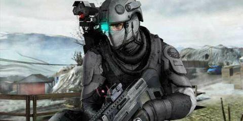 Soldier, Personal protective equipment, Military person, Helmet, Cool, Shooter game, Technology, Machine gun, Air gun, Shooting,
