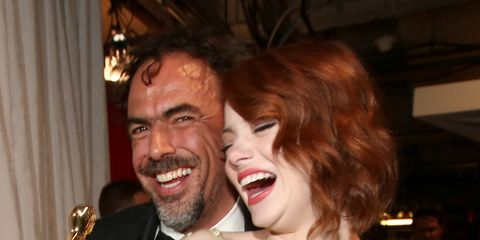 Smile, Tooth, Dress, Red hair, Brass, Laugh, Necklace, Beard, Fictional character, Tongue,