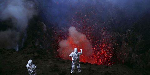 Geological phenomenon, Fire, Smoke, Flame, Lava, Soldier,