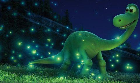 Green, Organism, Dinosaur, Adaptation, Terrestrial animal, Extinction, Animation, Animal figure, Fictional character, Tyrannosaurus,