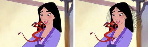 Hairstyle, Eyebrow, Style, Animation, Cartoon, Black hair, Neck, Animated cartoon, Violet, Long hair,