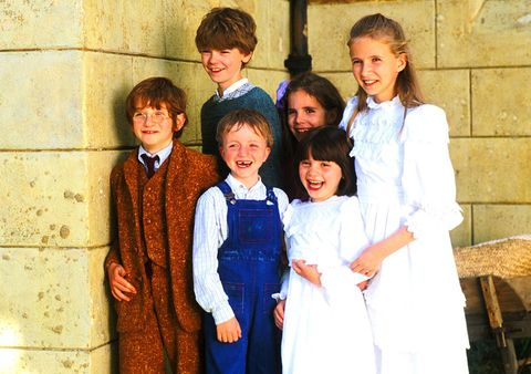 Hair, Face, Smile, People, Sleeve, Standing, Happy, Child, Collar, Vintage clothing,