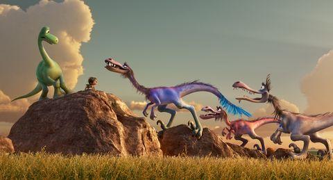 Dinosaur, Organism, Vertebrate, Landscape, Adaptation, Ecoregion, Terrestrial animal, Extinction, Art, Animation,