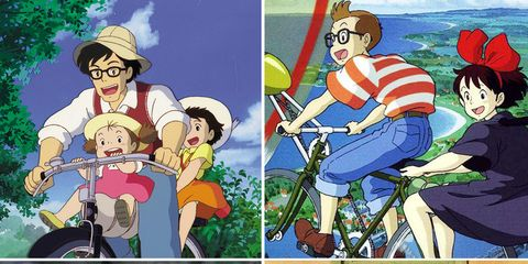 Human, Bicycle tire, Bicycle wheel rim, Bicycle wheel, Animation, Bicycle frame, Animated cartoon, Bicycle, Interaction, Cartoon,
