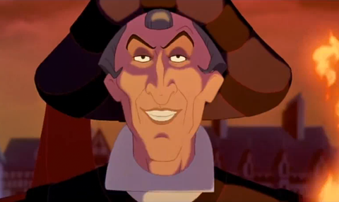 frollo on the hunchback of notre dame