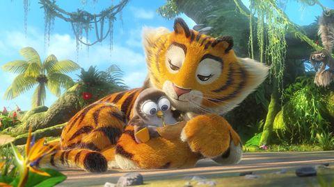 Animated cartoon, Organism, Felidae, Stuffed toy, Wildlife, Terrestrial animal, Snout, Toy, Plush, Animation,