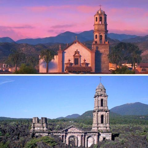 Mountainous landforms, Highland, Mountain range, Hill, Landmark, Hill station, Real estate, Church, Chapel, Place of worship,