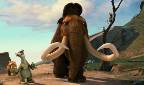 Mammoth, Organism, Elephant, Vertebrate, Elephants and Mammoths, Animation, Tusk, Indian elephant, Natural material, Illustration,