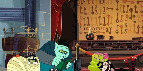 Animation, Cartoon, Animated cartoon, Fictional character, Fiction, Illustration, Painting, Graphics,