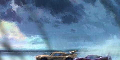 Nature, Automotive design, Automotive exterior, Atmosphere, Car, Atmospheric phenomenon, Hood, Reflection, Performance car, Automotive lighting,