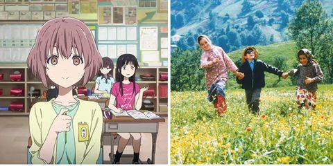 Cartoon, Anime, Art, Illustration, Summer, Grass, Collage, Fiction, Plant, Fictional character,