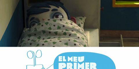 Room, Bed, Linens, Bedding, Bedroom, Animated cartoon, Animation, Fictional character, Bed sheet, Aqua,