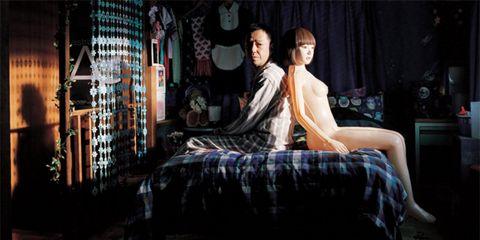 Bedroom, Bedding, Linens, Bed, Black hair, Bed frame, Bed sheet, Blanket, Duvet, Curtain,
