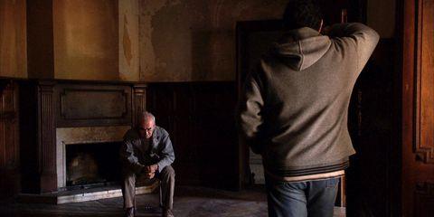 Standing, Denim, Jeans, Sitting, Back, Hearth, Pocket, Fireplace, Wood flooring,