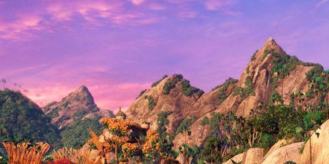 Art, World, Animation, Summit, Outcrop, Painting, Massif, Illustration, Beak, Fictional character,