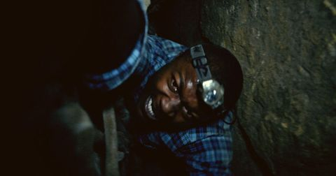 Darkness, Plaid, Tartan, Mask, Caving, Miner, Cave, Mining,